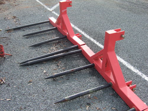 TWM linkage round square bale forks