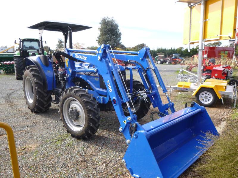 Solis 60 Tractor 4wd rops burder fel 4in1 bucket