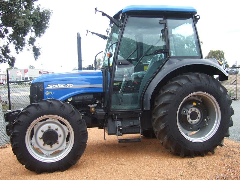 Solis 75 hp tractor 4 wheel drive cabin
