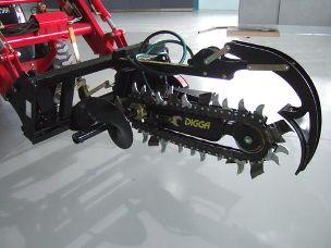 Digga hydraulic trencher euro hitch