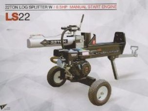 Millers Falls 22 ton log splitter
