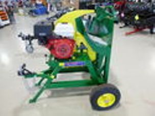 Millers Falls log saw towable petrol engine