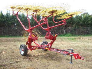 SITREX V10 caddy 10 wheel vee rake