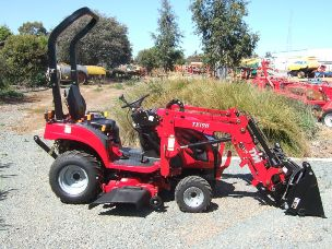 TYM T194 tractor front end loader mid mount mower