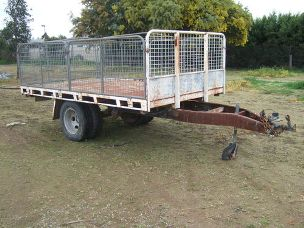 "Trailer 11ft. 6""x 6ft. 6"" tray dual wheels"