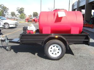 Trailer 7x4 with1,100Lt Fire Fighting Pump, Honda