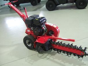 Trencher Ground Hog 15hp petrol engine