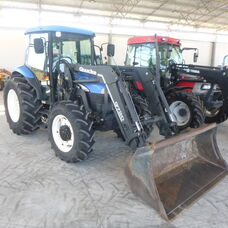 USED NEW HOLLAND TD85D CAB TRACTOR WITH LOADER