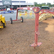 Used New Holland Super 56 roller bar rake tandem hitch frame