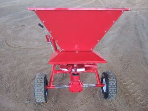 Worker ATV fertiliser spreader