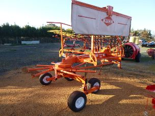 kuhn ga4121gm single rotary rake